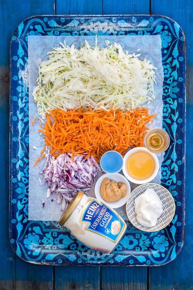 Addictive Asian coleslaw with peanut dressing