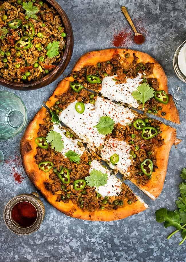 Spicy Lamb Keema Pizza | Supergolden Bakes