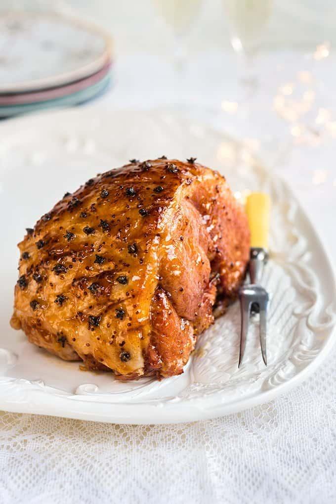 Apricot and mustard glazed ham   Supergolden Bakes