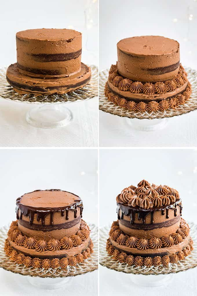 Chocolate Pinata Cake with Chocolate, Chestnut and Mascarpone frosting