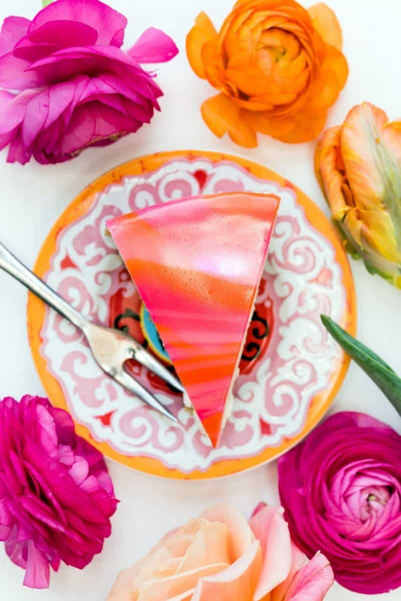 Make this show-stopping mirror glaze white chocolate cheesecake to really impress this Mother's Day!