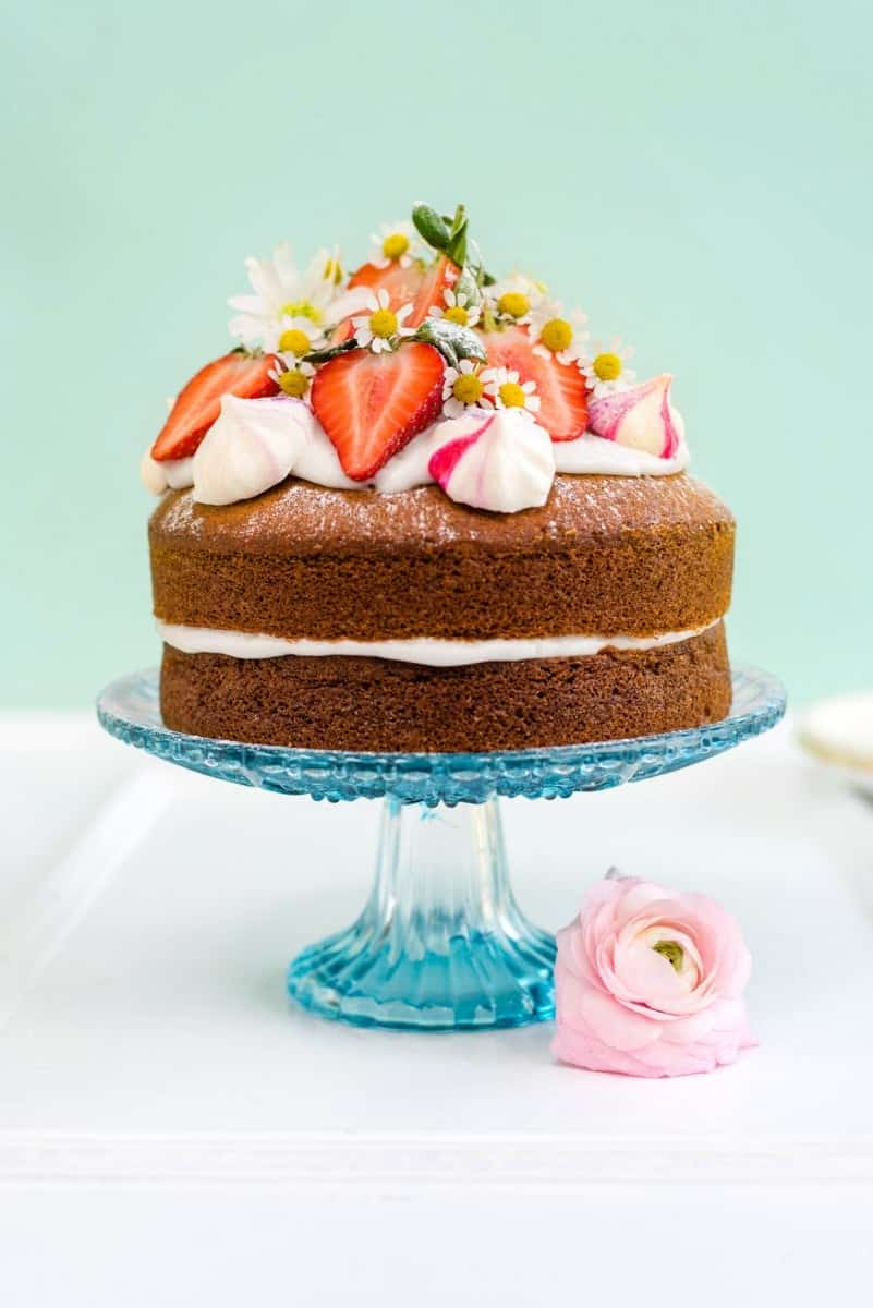 Vegan Vanilla Cake With Whipped Coconut Cream Perfect For Birthdays And Celebrations Embarrassingly Easy