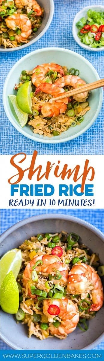 Making this 10-minute shrimp fried rice could not be easier and it tastes miles better than takeaway. An excellent midweek meal that's sure to become a family favourite.