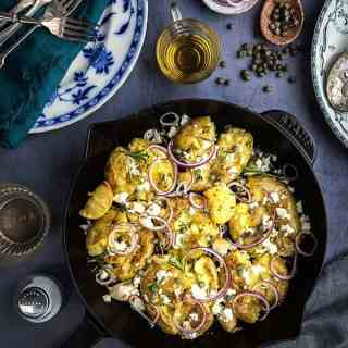 Make thesequick smashed Greek potatoes with feta and rosemary whenever you need a delicious side dish in a hurry... or add some protein and turn it into a main.