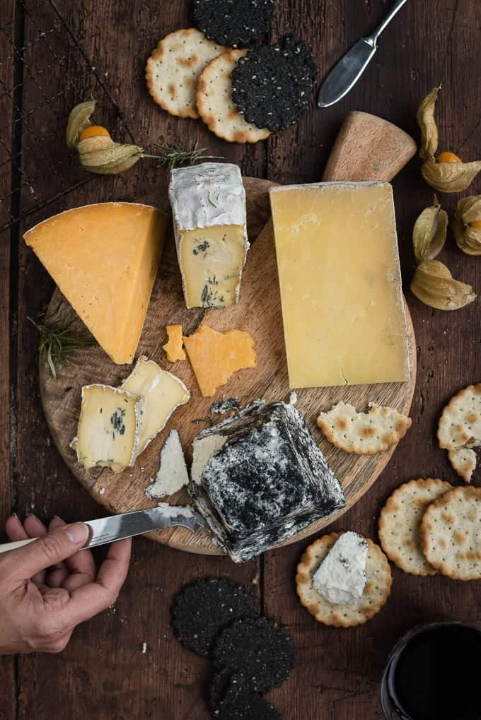 Design your festive cheese board with a selection of artisan products from Paxton and Whitfield