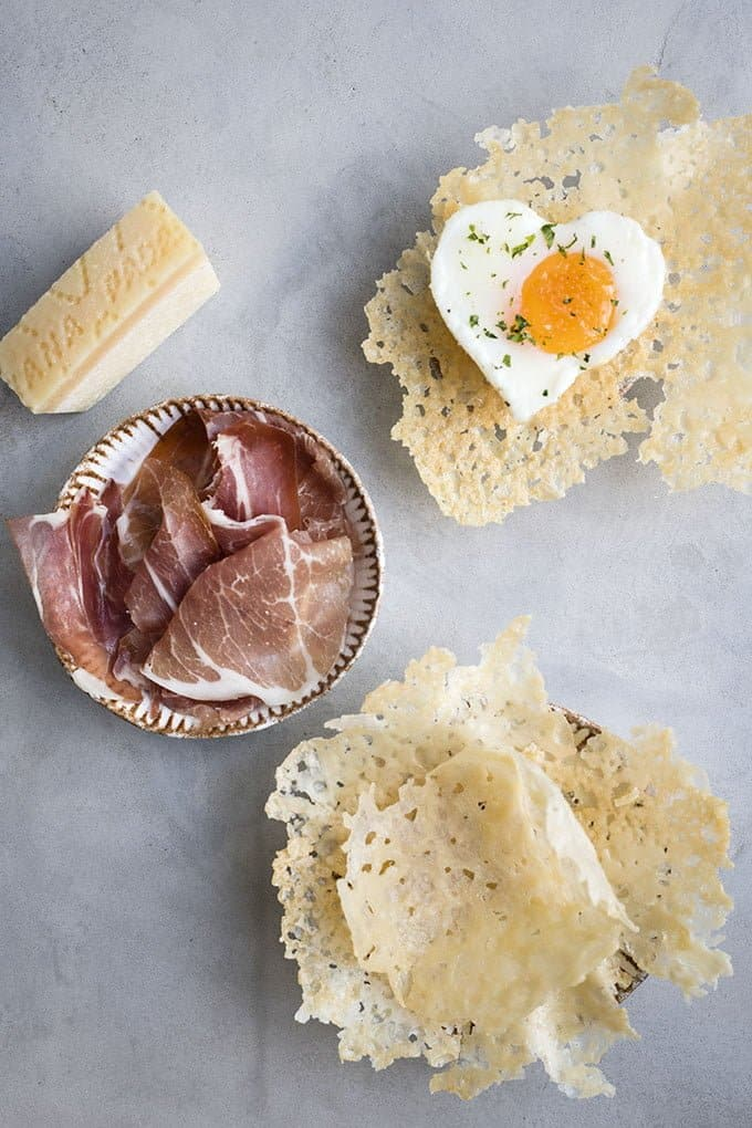 Making Grana Padano crisps or baskets is easy - just follow the steps in my recipe!