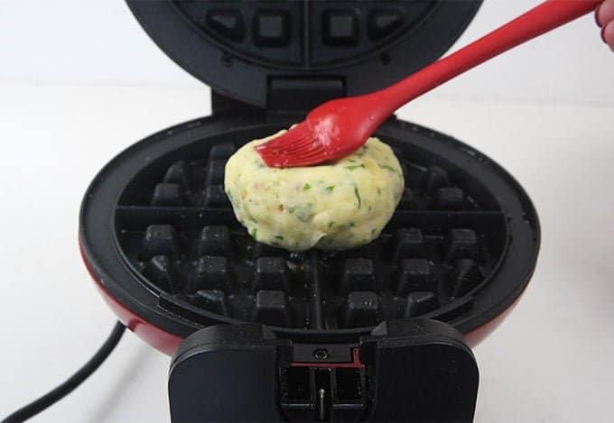 Making potato waffles