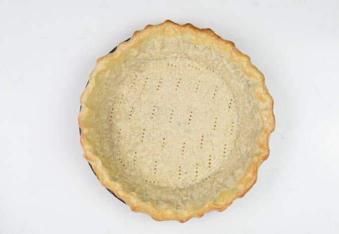 Part baked pie shell