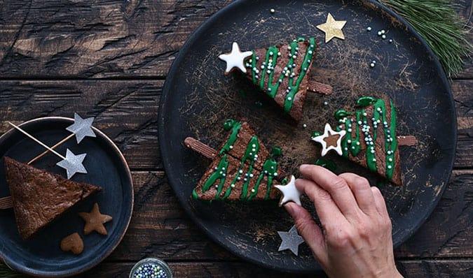 Making Christmas brownies