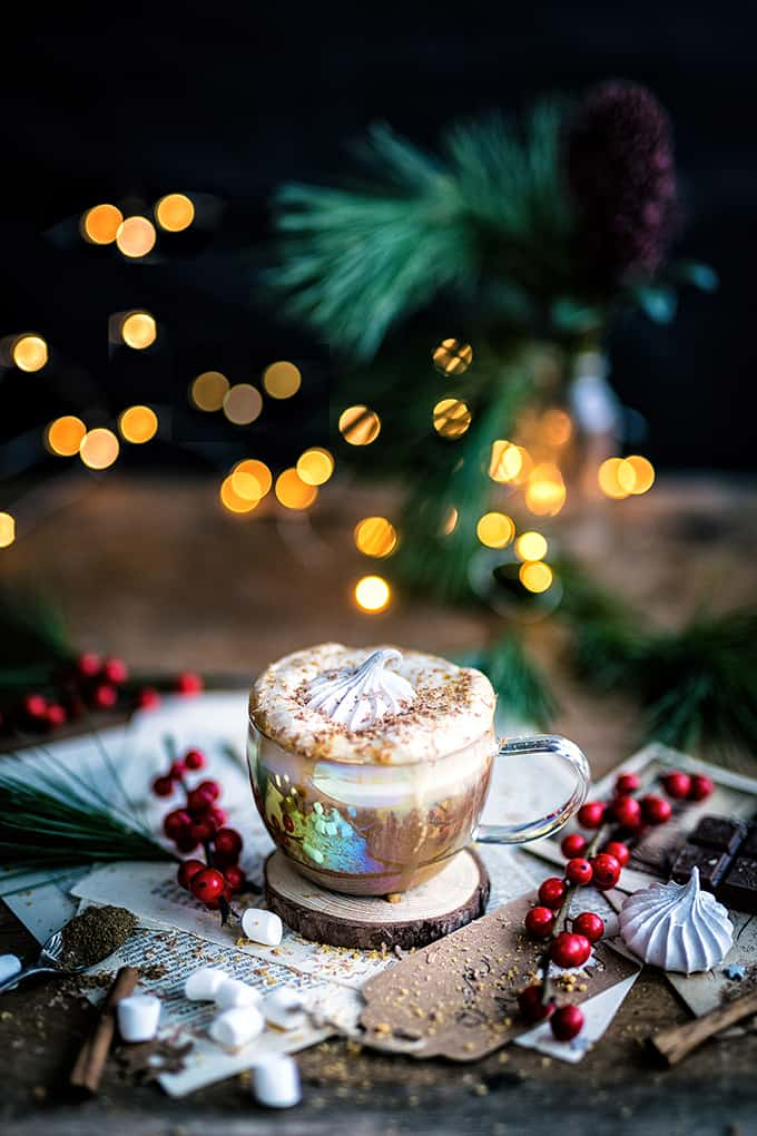 Christmas gingerbread latte