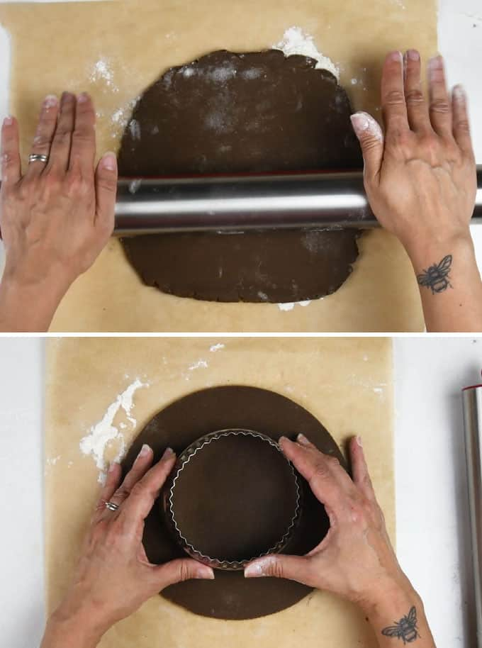 making a letter cookie cake