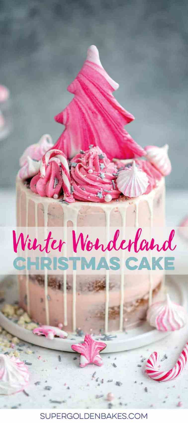 Showstopping cranberry Christmas cake