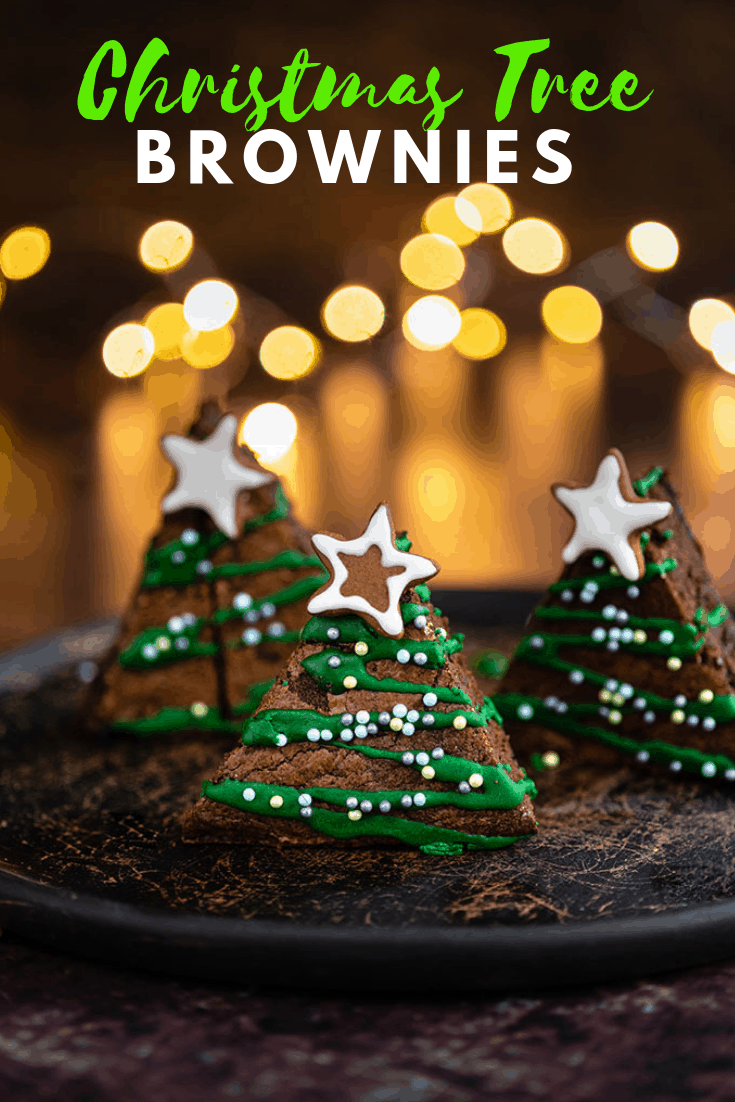 These festive Christmas tree brownies are the perfect holiday treat