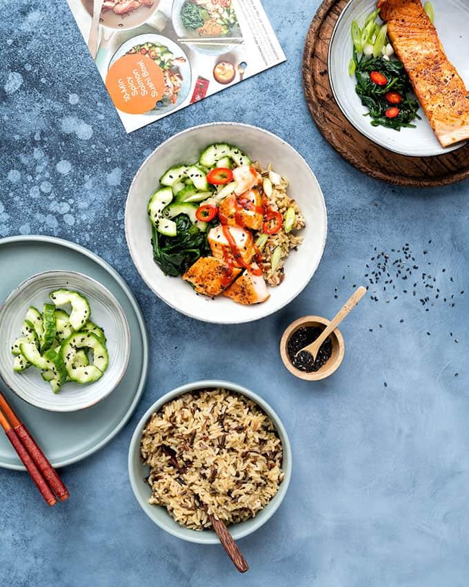 healthy sushi salmon bowl