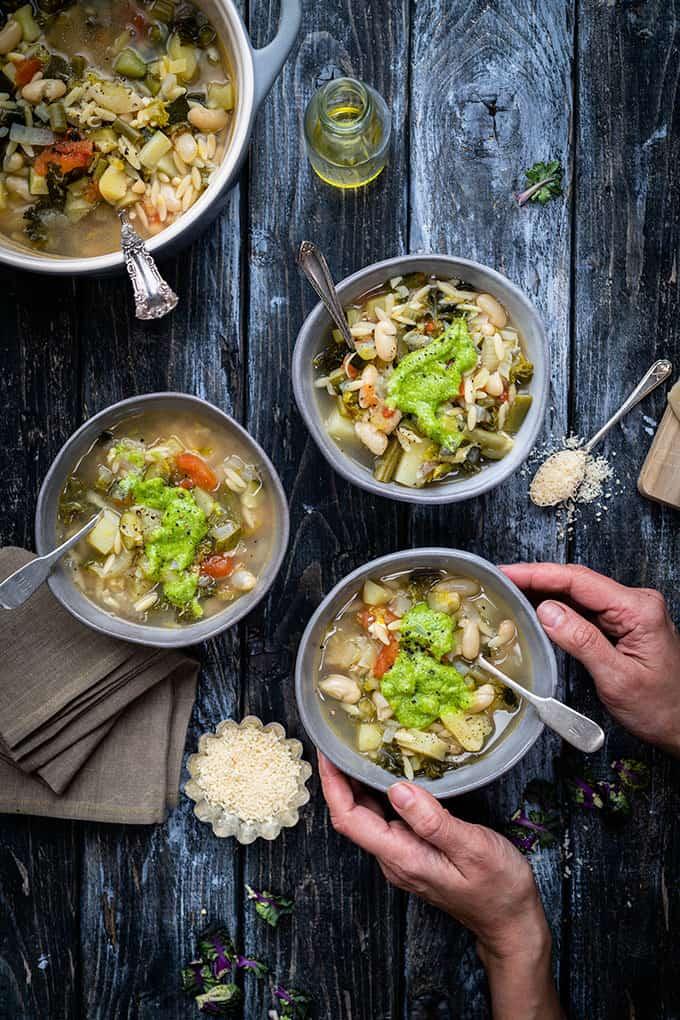 Provencal soup au pistou