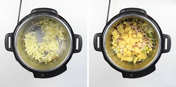 Making pistou soup in an Instant Pot