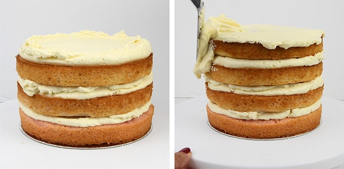 Assembling a layer cake collage