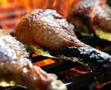 grilled chicken leg P7HRCPM - Brochette de porc maison (oignons - poivrons)