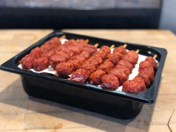 IMG 5875 copie - Brochette de boulettes ketchup