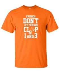 clap on 1 and 3 orange