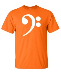 bass clef orange