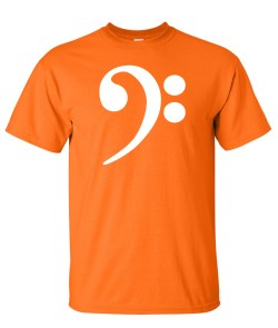 bass clef orange