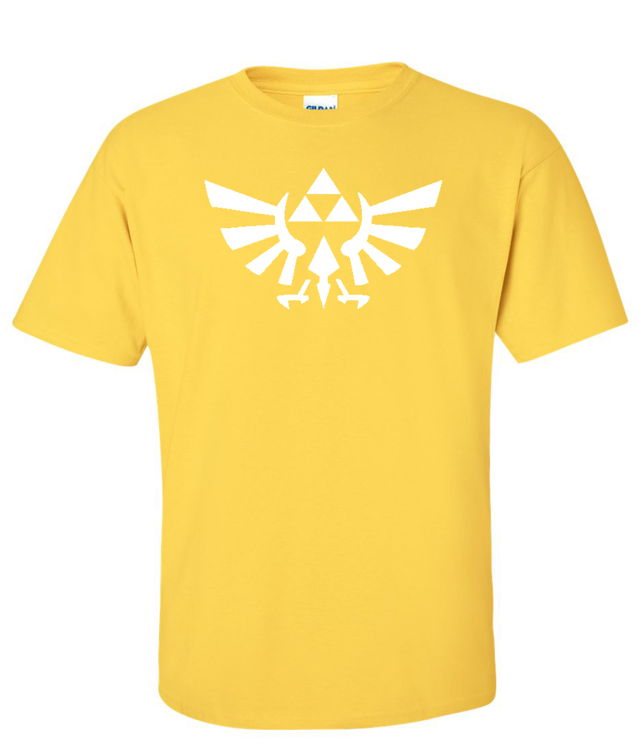 4b40cf3c5 Zelda Tri-Force Pyramid Eagle Logo Graphic T Shirt - Supergraphictees