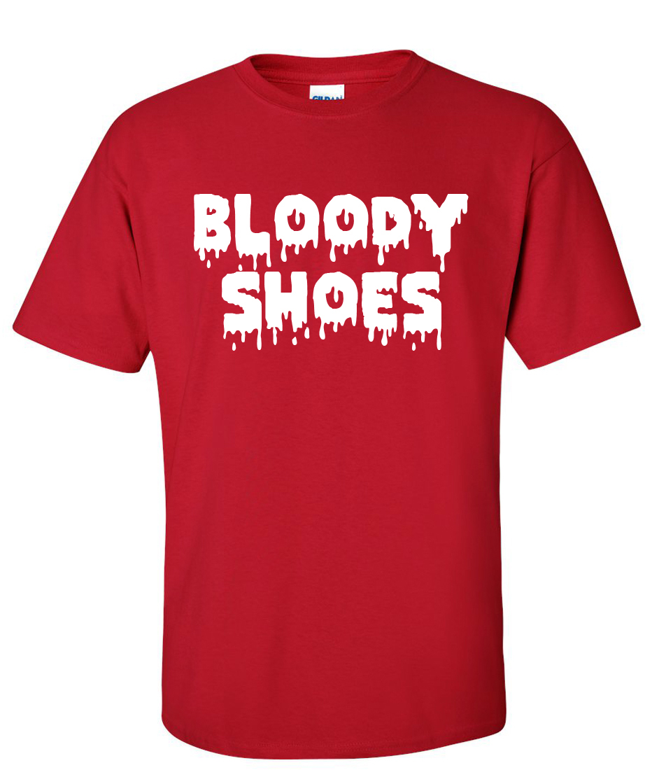 6cd5c9b24a3d Bloody Shoes logo Graphic T Shirt - Supergraphictees