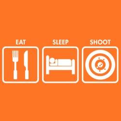 eat sleep shoot orange