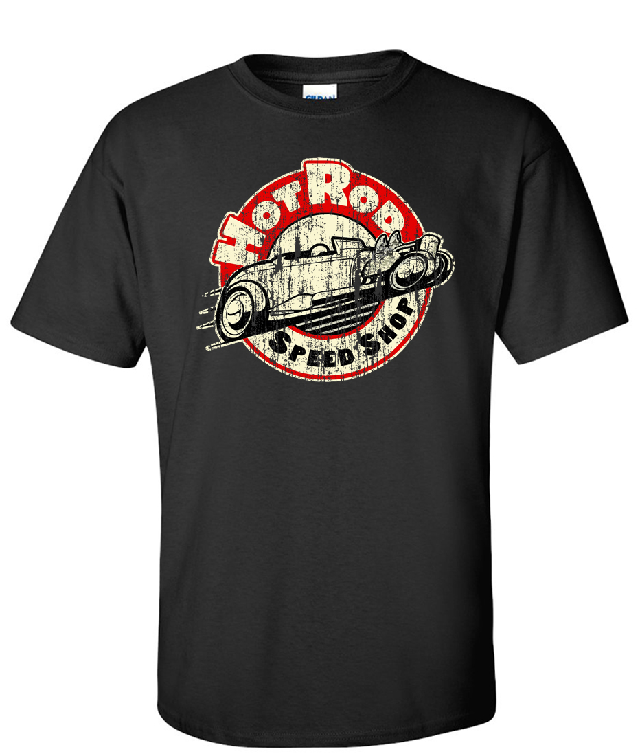 Hot rod speed shop sgt exclusive design logo graphic t for Graphic t shirt shop