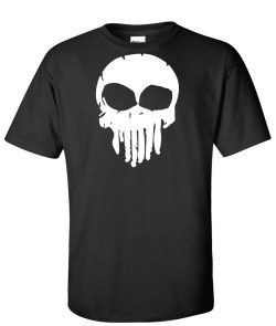 melting skull black