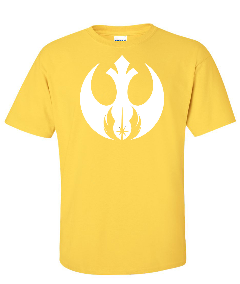 Rebel alliance jedi order logo graphic t shirt for Where to order shirts with logos