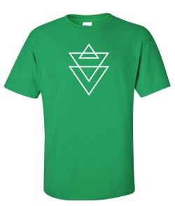 religion triangle green