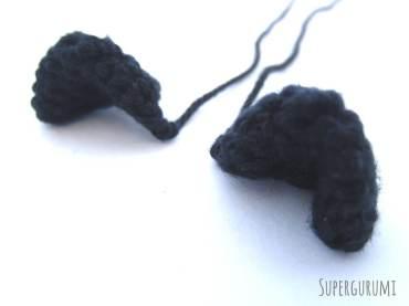 Cat Basket Crochet Ears