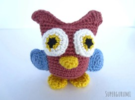 Crochet Owl with Wings