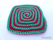 Square Spiral Crochet Coaster