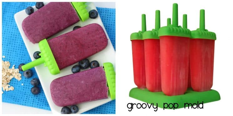 Groovy Pop Mold with homemade pops