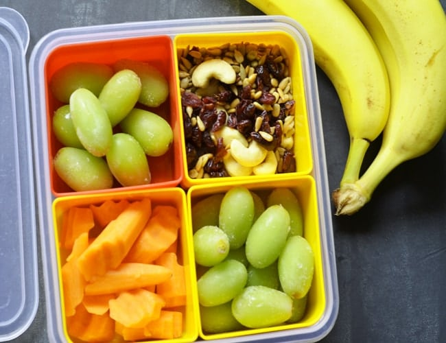 Portable Park Snacks in a plastic container