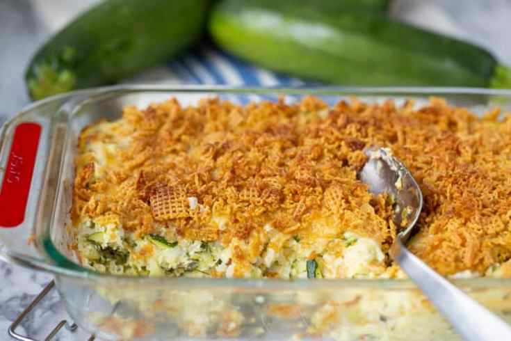 zucchini casserole with crunchy topping