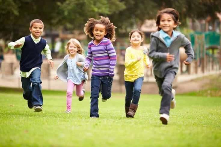 active kids outside