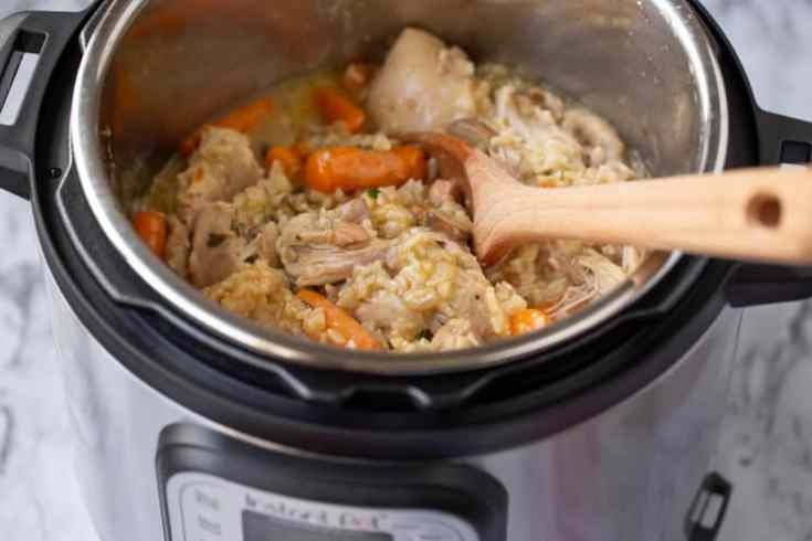 all in one chicken and rice meal in the instant pot