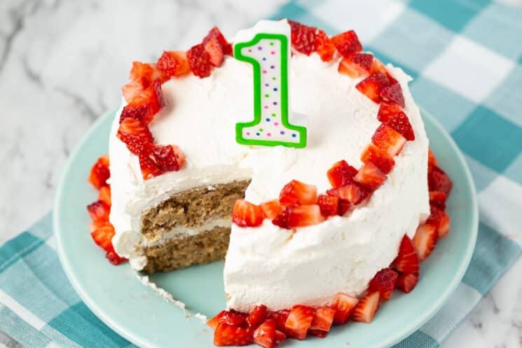 Baby S First Birthday Cake Smash Cake Super Healthy Kids