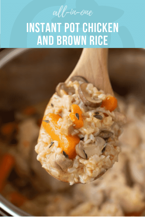 All-in-One Instant Pot Chicken and Brown Rice | Healthy Ideas and Recipes for Kids | Easy Dinner Idea