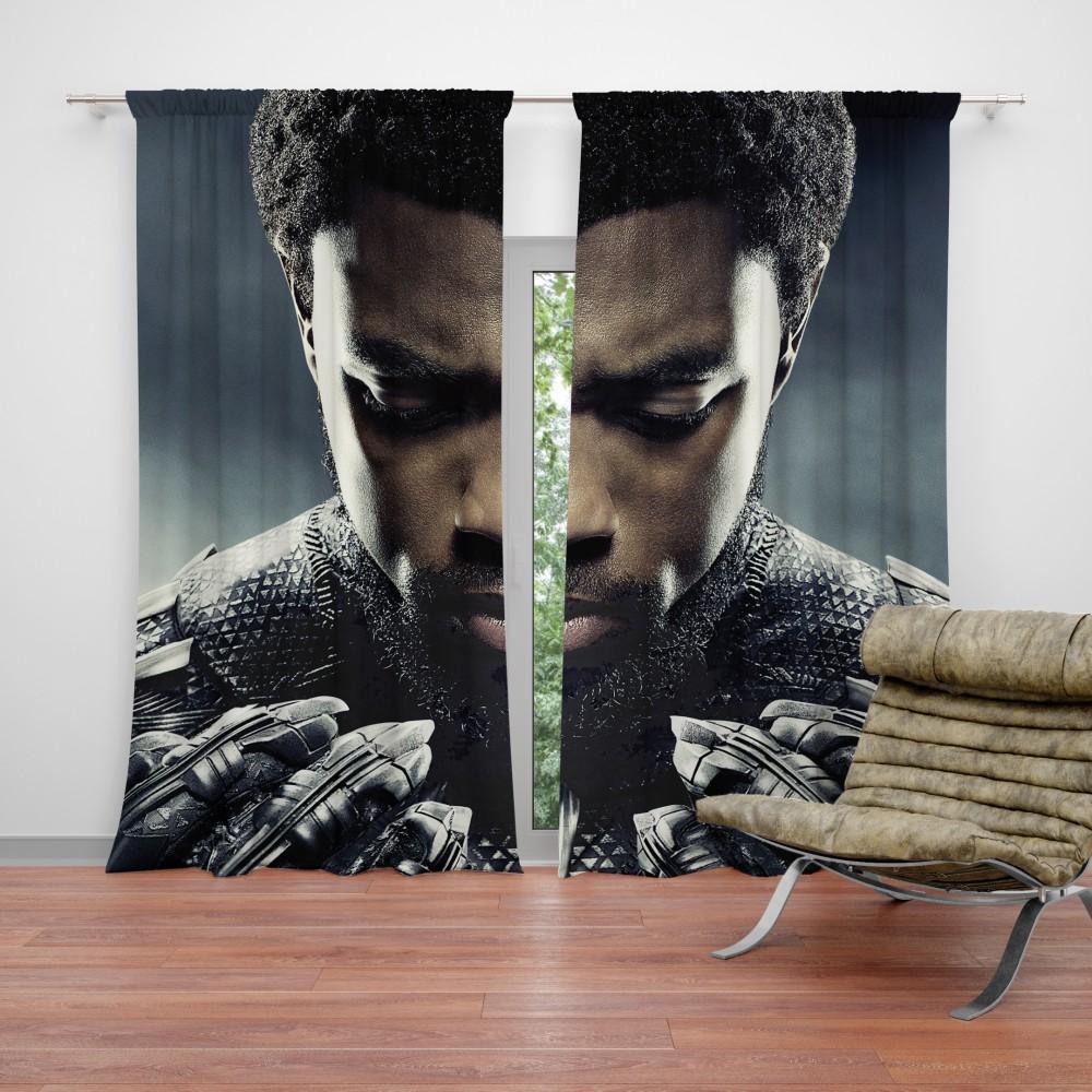 marvel black panther t challa chadwick boseman curtain