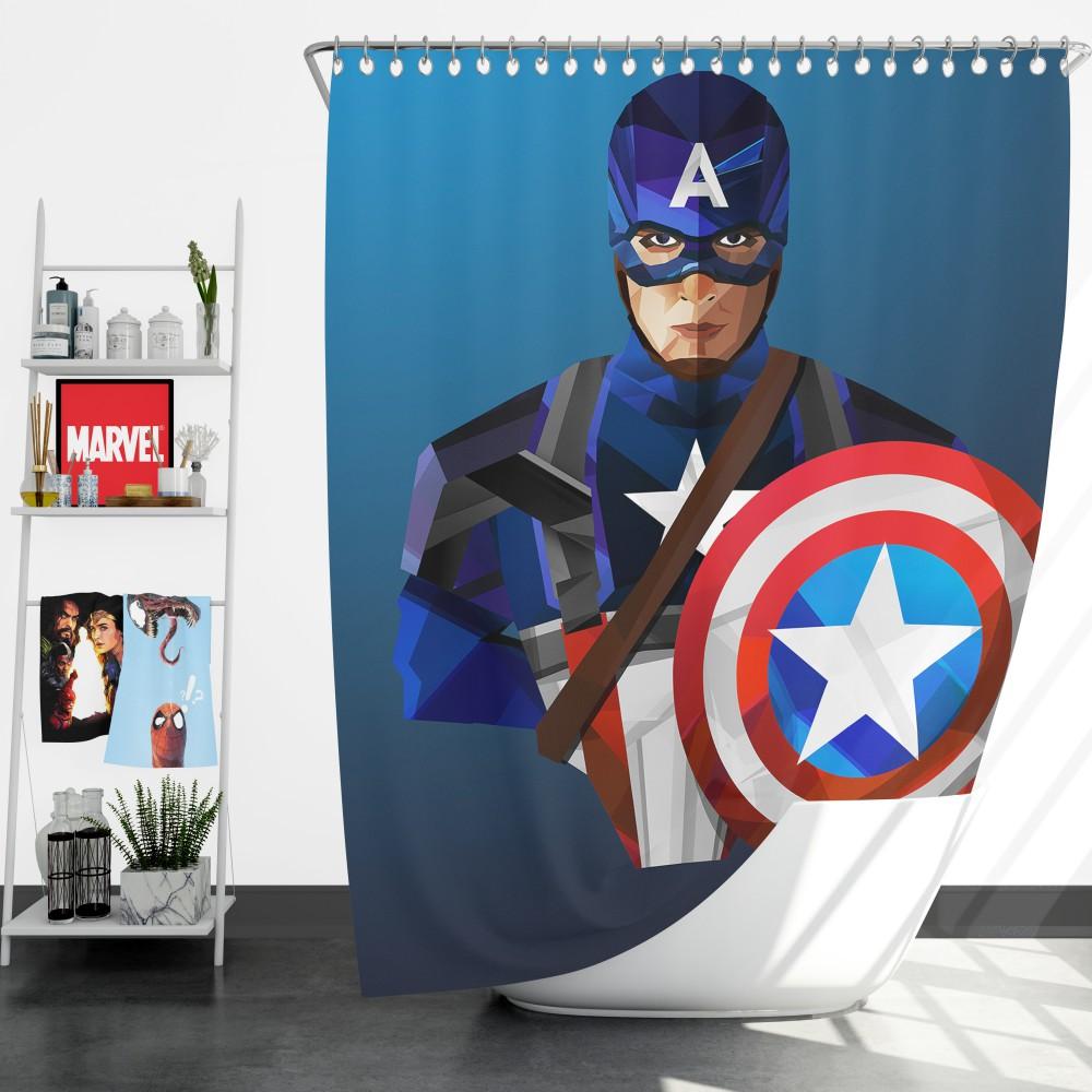 marvel captain america captain america the winter soldier shower curtain