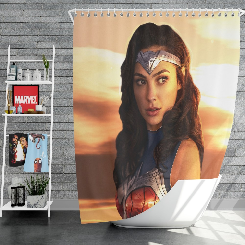 princess diana of themyscira wonder woman gal gadot shower curtain