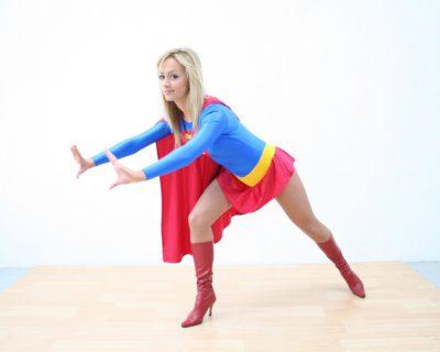 Supergirl Alana stopping a car