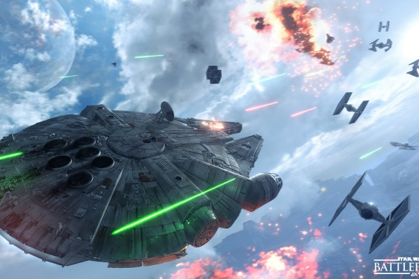 Star Wars Battlefront Millenium Falcon in Combat