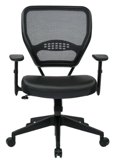 Office Star Space Professional Air Grid Back Managers Chair with Eco Leather Seat