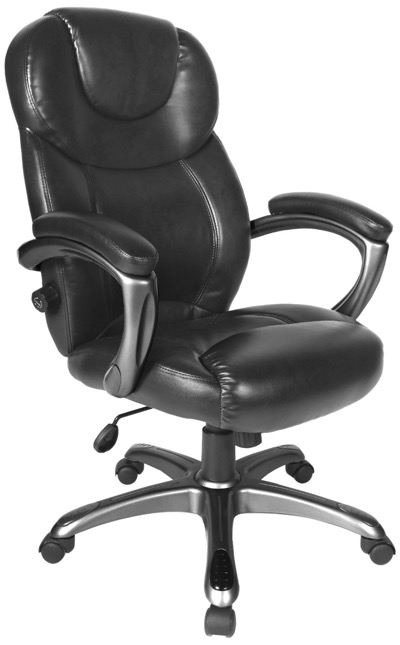 Comfort Products 60-582105 Granton Leather Executive Chair with Adjustable Lumbar Support
